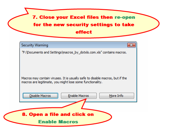 Enable Excel Macros 3